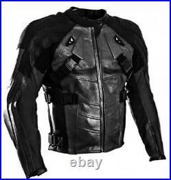 Deadpool Homme Motor Veste En Cuir Moto Chaqueta De Cuero Motorrad Leder Jacke