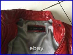 Doudoune Blouson cuir rouge VENTCOUVERT taille 38/40 bon état 895