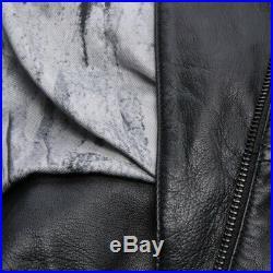 Drykorn Veste en Cuir Gr. 34/1 Noir Veste Femme Veste en Cuir Blouson Motard