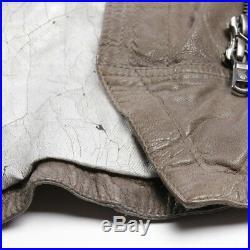 Drykorn Veste en Cuir Gr. De 38/3 Gris Veste Femme Veste en Cuir Blouson Motard