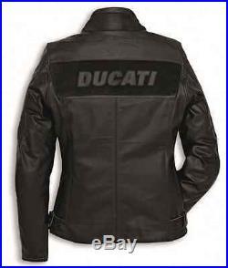 Ducati Dainese Entreprise C2 Femme Veste Cuir Perforé Cuir Veste Femmes