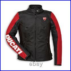 Ducati Hommes Motard Courses Armure CE Protecteur Sport Cuir Réplique Moto Veste