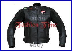 Ducati Hommes Moto Courses Armure Protecteur Sport Cuir Réplique Motard Veste