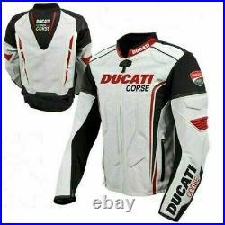 Ducati Moto Courses Armure Protecteur Motard Sport Cuir Réplique Hommes Veste