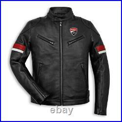 Ducati Moto Hommes Cuir Armure Veste Motard Courses Réplique Sport CE Protecteur