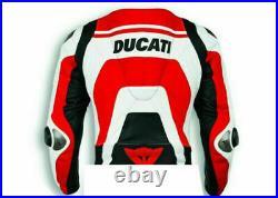 Ducati Moto Motard Courses Cuir Protecteur Réplique Sport CE Armure Hommes Veste