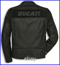 Ducati Veste Moto Haut Qualité Cuir de vache avec 5 Intérieur CE Protections