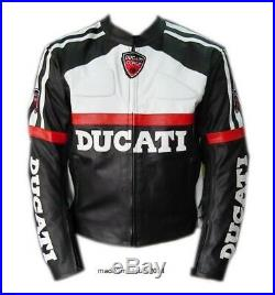 Ducati Veste de Moto en Cuir en Allen Tailles Disponible Course Veste en Cuir