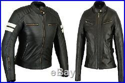 Femmes Blouson en cuir, noir motard Veste, Moto Blazer manteau veste Noir