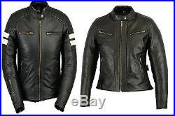 Femmes Mode Blouson, Blouson En Cuir, Moto Veste Blazer Manteau Veste, Noir XL