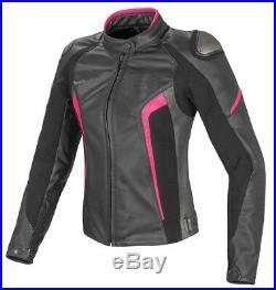 Femmes Moto Cuir Veste Sports Cuir Veste Dames Courses Cuir Biker Veste EU-46-52