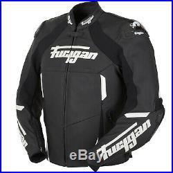 Furygan Cobra Veste en Cuir Moto Sport pour Hommes Noir/Blanc