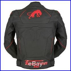Furygan Raptor Evo Noir Rouge SPORTS Course Moto Cuir Veste