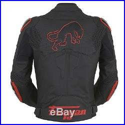 Furygan Raptor Noir/Ducati Rouge Cuir Imperméable Moto SPORTS Veste