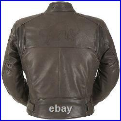 Furygan Vince Chasse Marron Cuir Moto Vintage/Cruiser/Rétro / Triumph Veste