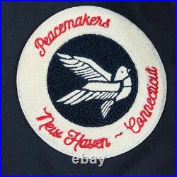 GANT The Letterman Varsity Blouson Laine Et Cuir Veste Taille XL