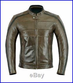 GMA Veste en cuir de moto Veste Reto Biker. S à 4XL