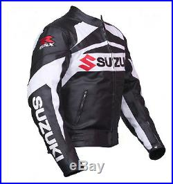 GSXR SUZUKI Courses Sports Cuir Veste Moto Cuir Veste Cuir Biker Veste EU-46-60