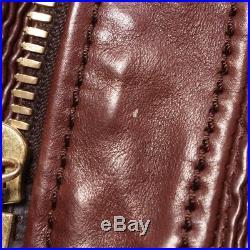 GUCCI Veste en cuir gr. De 40 IT 46 MARRON POUR FEMME VESTE EN CUIR cuir blouson