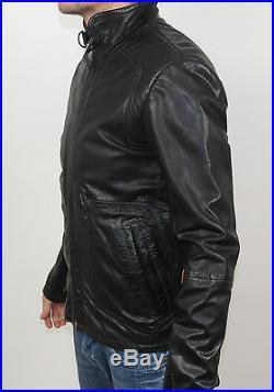 G-Star RCO BRANDO CUIR JKT Blouson Veste En Cuir 82164A. 4065.990 Noir + Nouveau