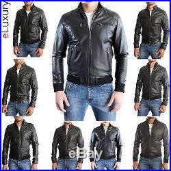 Giacca Giubbotto in di Pelle Uomo Men Leather Jacket Veste Blouson Homme Cuir 3l