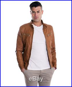 Giacca in Vera Pelle Uomo Man Leather Jacket Veste Blouson Homme Cuir EMILIANY