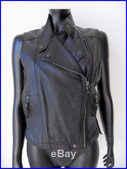 homme ou femme Gilet jacket en Cuir sans manches S à 7XL Biker country