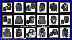 Gilet jacket Vest en Cuir Leather Grande taille S à 7XL Biker Country NEUF