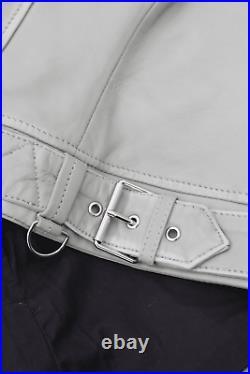 Gipsy Veste en Cuir pour Femme Blouson Motard Taille 36 (S) Vert