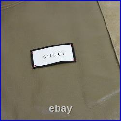 Gucci Homme Beige Chèvre Daim Cuir Blouson Fermeture Éclair 56R 408369 2602