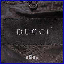 Gucci Veste en Cuir Gr. De 54 Noir Veste Homme Veste en Cuir Cuir Blouson