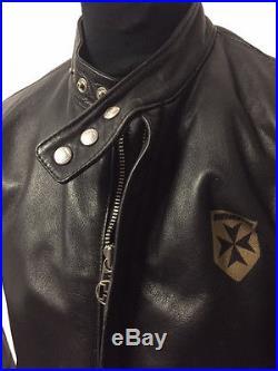HARRO Blouson Veste Moteur Aviateur Rocker Biker Cuir Véritable Gr. L (C535)