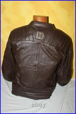 HEVIK Blouson Moto Garage Cuir Marron HJL301MBRL Homme Taille L