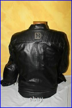 HEVIK Blouson Moto Garage Cuir Noir HJL301MBL Homme Taille L