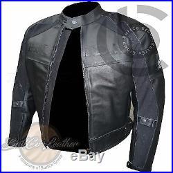 HONDA 5524 NOIRS MOTO MOTARD COURSE Cuir Véritable veste renforcée