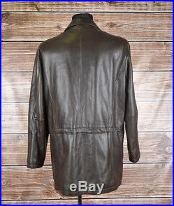 HUGO BOSS cuir 13/8 hommes veste blouson Taille EU50, véritable