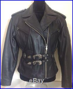 harley davidson veste blouson cuir noir epais taille m l blouson veste cuir. Black Bedroom Furniture Sets. Home Design Ideas