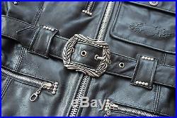 Harley davidson blouson veste cuir femme vintage noir taille S