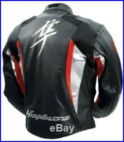 Hayabusa Suzuki Moto Cuir Veste Biker Cuir Veste Vêtement En Cuir Motorbike