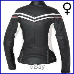 Held Jolin Rétro Veste en Cuir Noir/Blanc Gr. 44 Moto Femmes Vintage, Neuf /