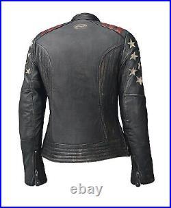 Held Laxy Femmes Veste en Cuir Noir Gr. 40 Moto Vintage, Rétro Touring Sport Neuf