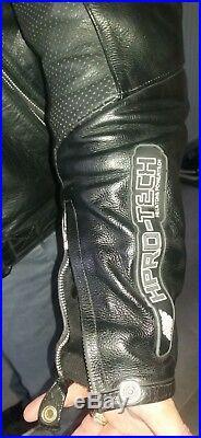 Helston's Blouson/veste De Moto Cuir Avec Renforts/coques+doublure S-m Tbe