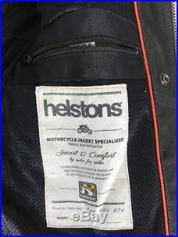 Helstons Ace Plain Veste blouson en cuir MOTARD homme taille L ACHAT IMMÉDIAT