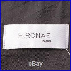 Hironae Paris Veste en Cuir GR. XS Gris Veste Femme Blouson Motard