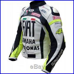 Homme Motor Veste En Cuir Moto Chaqueta De Cuero Motorrad Leder Jacke Ce