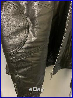 Homme Veste en cuir / Noir / Style motard 3XL NEW blouson VERAZZANO ITALIA
