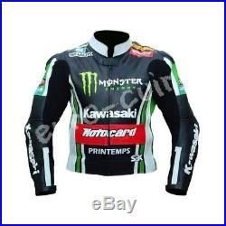 Hommes Biker Cuir Veste Vêtement En Cuir Motorbike Moto Cuir Veste Eu-48,54,60