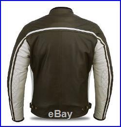 Hommes Blouson En Cuir pour Moto, Motard Blouson En Cuir, Vintage Homme veste
