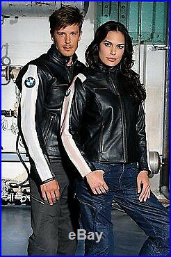 Hommes/Dames BMW Moto Cuir Veste Courses Cuir Biker Veste BMW Sports Cuir Veste