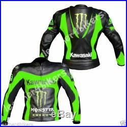 Hommes Motard Vestes Courses Moto Imprimé Cuir MotoGp Sports Armure Protecteur